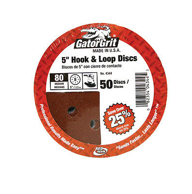 Gator 5 in. Aluminum Oxide Hook and Loop Sanding Disc 80 Grit Medium 50 pk