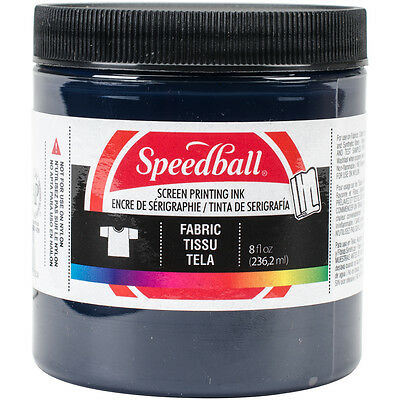 Speedball Art Products Tela Pantalla Impresión Tinta 8 Fl. Oz. Azul Denim