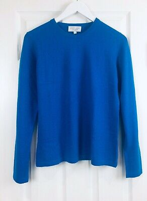 VAST LAND 100% Cashmere Crew Neck  Soft Warm  Sailor Blue Lovely  BNWT Gift 10
