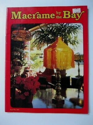 Vintage Macrame By The Bay Guitar Strap Cross Wallhanger Lampshades Purses Book