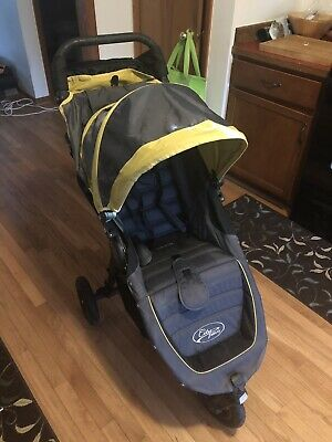 Baby Jogger City Mini Gt Black Yellow With Rain Cover