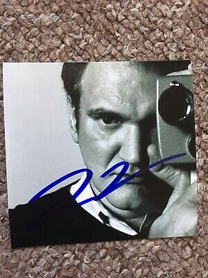 Quentin Tarantino Hand Signed Original Autograph Photo *OFFERS WELCOME*
