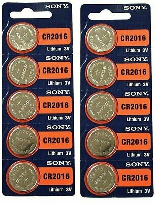 **FRESHLY NEW**10x SONY CR2016 Lithium Battery 3V Exp 2027 Pack 10 pcs Coin Cell