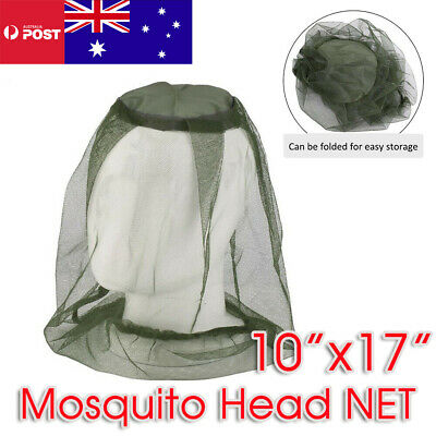 Mosquito Fly Insect Head Net Mesh Hat Bee Bug Mozzie Protector Outdoor Fishing