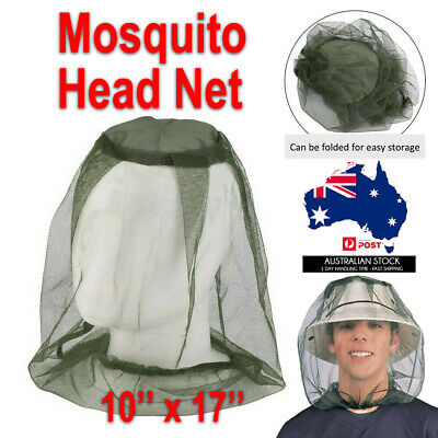 Mosquito Fly Bee Head Net Mesh Hat Insect Protector Outdoor Fishing Bug Mozzie