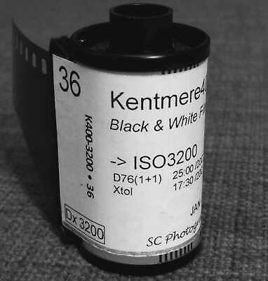 35mm - Kentmere400, in DX3200 coded cartridg, Black & White negative film, 36exp
