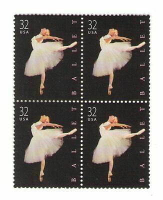 American Ballet 19 Year Old Mint US Postage Stamp Block from 1998