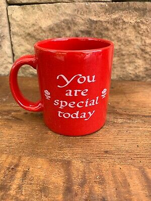 Bright Red Waechtersbach Germany You Are Special Today Mug
