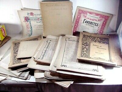 HUGH ANTIQUE SHEET MUSIC LOT MOSTLY THE 1800's TO VERY EARLY 1900's -- 14 POUNDS