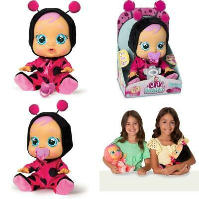 Cry Babies Lady The Ladybug Doll Realistic Baby Sounds Kids Pretend Playing Toys