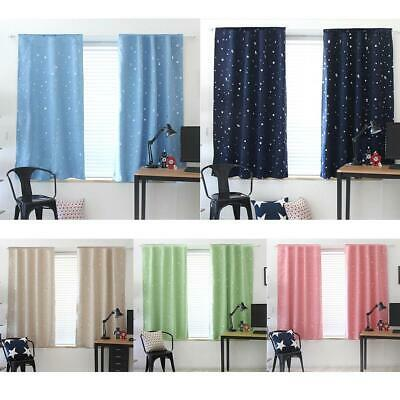 1X1.3m Star Blackout Curtain Living Room Window Blind Shading Screen Drapes HOT