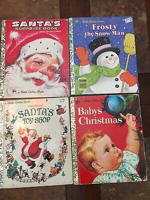 Lot Of 4 Four A Little Golden Books Christmas Santa's Surprise Frosty Baby's