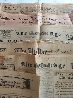 Bulk Lot Of Old Newspapers