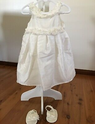 baby girls outfits White With Slip On Shoes Size 0