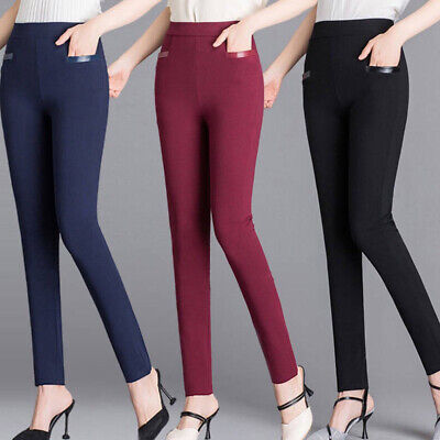 Plus Size Women Ladies Winter Thermal Leggings Thick Fleece Lined Slim Trousers