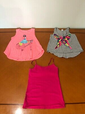 Lot of 3 Girls Kids So Justice Tru Luv Pink Tank Top Sleeveless Shirts Size 10