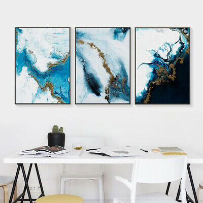 Nordic Abstract Canvas Painting Background Wall Bedroom Home Decor Unframed Sigh
