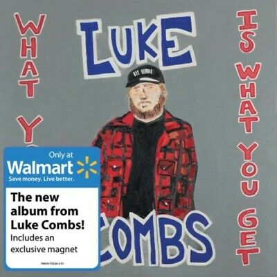 LUKE COMBS What You See Is What You Get EXCLUSIVE CD w/ magnet