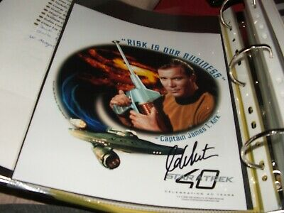 Star trek hand signed autograph William Shatner Captain Kirk