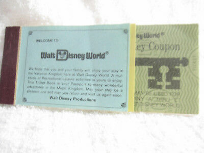 1976 Disney World Adult Magic Key ticket coupon book booklet Disney  1970's
