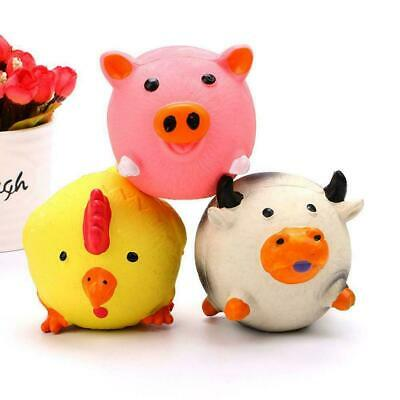 Pet Puppy Supplies Chew Squeaker Squeaky Rubber For Dog Sound Pig/Cow Toys M6I1