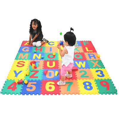 26PCS Large Floor Play Mats Kid Learning Foam Alphabet ABC Tiles Letters Puzzle