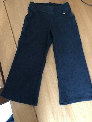 Girls Grey School Trousers From Next Age 4 Excellent Condition