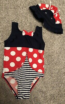 Girls Ladybird Swimming Costume And Matching Hat 18-24 Months
