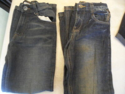 2 Pairs of M&S Indigo Collection Jeans Age 11 Yrs Waist 66cm Height 146cm