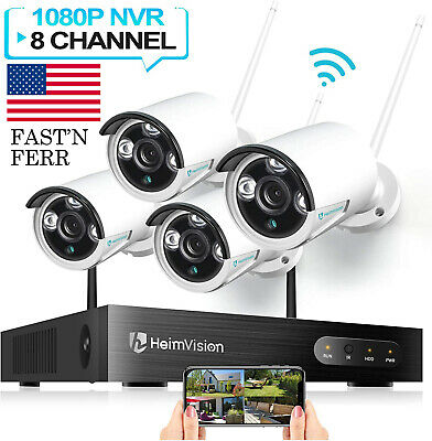 HeimVision 8CH Wireless 1080P NVR Outdoor Home WIFI Camera CCTV Security System