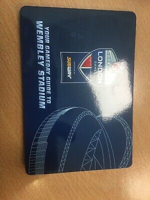 NFL UK 2019 LONDON GAMEDAY GUIDE WEMBLEY STADIUM BENGALS v RAMS TEXANS v JAGUARS
