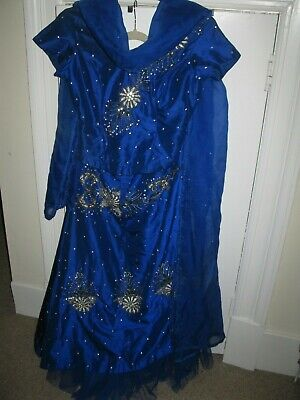 Principal Girl 3 piece dress Royal Blue covered in Crystals 10/12