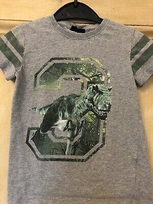 Next Grey And Green Dinsoaur 3 T-shirt. Size: 3 Years Old.