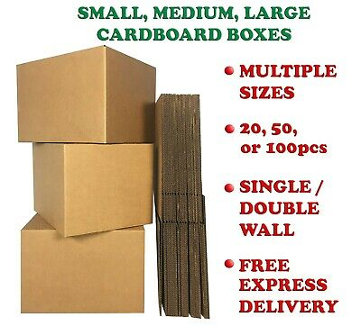 STRONG Corrugated Cardboard Boxes Single or Double Wall Small Medium Large UK
