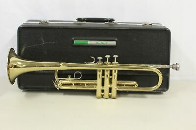 Bundy Trumpet Musical Instrument With Bach 7C Mouthpiece, Pre-Owned. Sold As IS.