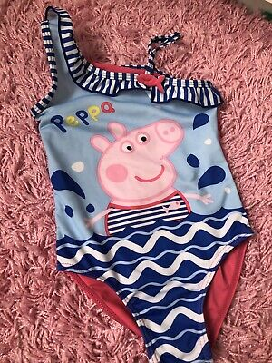 Girls Peppa Pig Swimsuit Ages 5-6 Years
