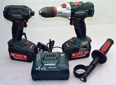 Metabo 18V Impact Driver & Drill (Bodies, Batteries & Charger) Cased FREEPOST