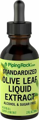 Piping Rock Olive Leaf Liquid Extract Herbal Drops 2fl oz (59 mL) Dropper Bottle