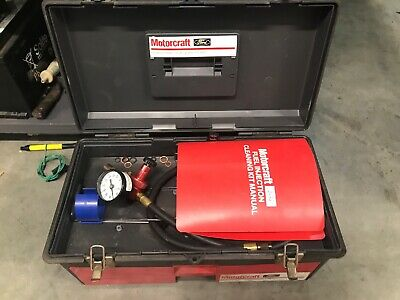 Ford Motorcraft Diagnostic Fuel System Pressure Tester with Adapters & Case Tool
