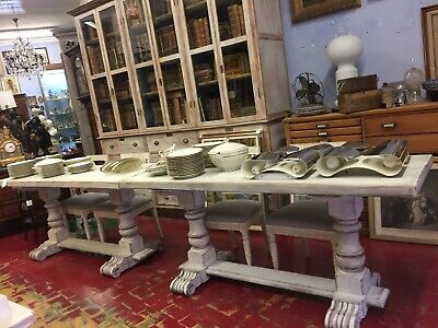 2 Stunning Tables Fratino in Lacquer White Chalk France Country Chic Period