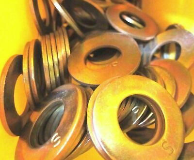 "7/8"" USS Flat Washers Thru-Hardened Yellow Zinc"