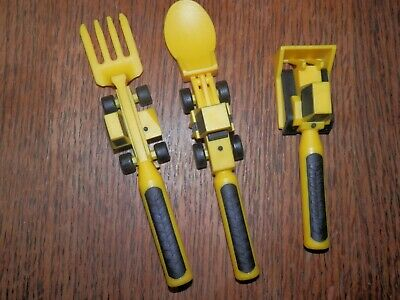 Constructive Eating Set of 3 Construction Utensils, Cute for Children