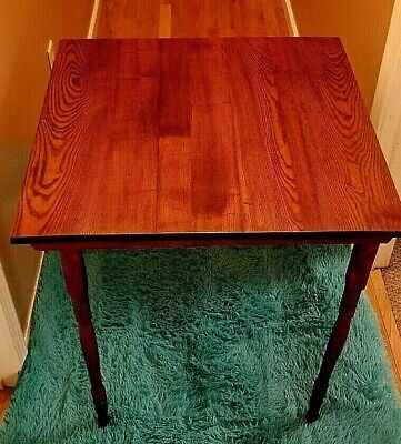 Antique Wooden Clipper Style Collapsible Folding Table