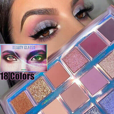 Eye Shadow Matte Pearlescent  Shimmer Eyeshadow Palette Highlighter Pigmented