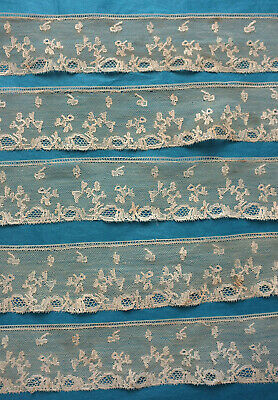 350 cms antique  late18th / early 19th century Mechlin bobbin lace border