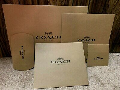 Coach Gift /packing Brown Box ,Paper Bags ,Sticker choose, Large,Medium ,Small
