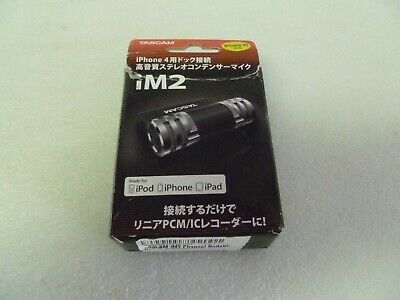 Tascam iM2 Stereo Condenser Microphone for iPhone 4/4S iOS devices Japan