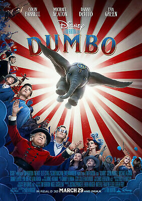 Disney Dumbo Live Action Movie Poster Iron On T-Shirt Transfer A5