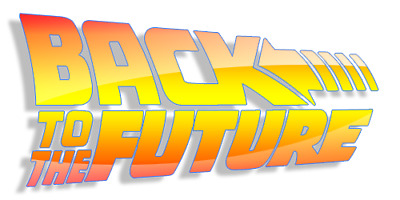 Back to the Future Logo 80s Movie Iron On Tee T-Shirt Transfer A5