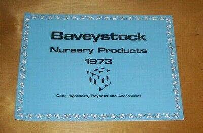 BAVEYSTOCK NURSERY PRODUCTS CATALOGUE 1973 Cots Highchairs Playpens Accessories